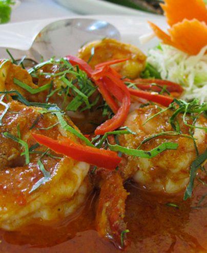 Mijoté de poulet ou crevettes au curry panang