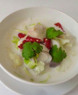 Soupe de poulet à la noix de coco
